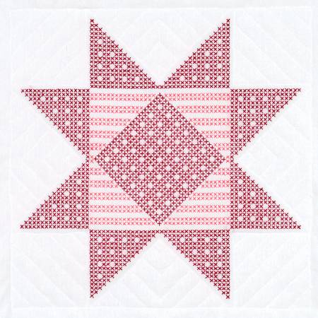 XX Gingham Star White 18in Quilt Square