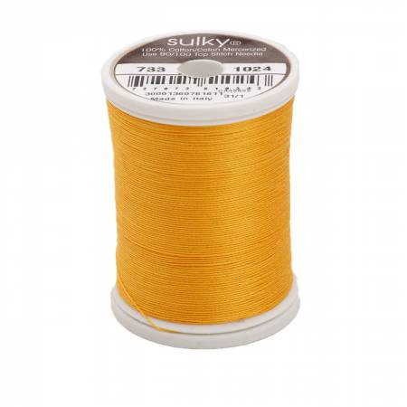 Sulky Cotton Solids 30wt - #1024 Goldenrod