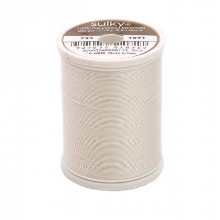 Cotton Thread 30wt 400d 500yds Off White