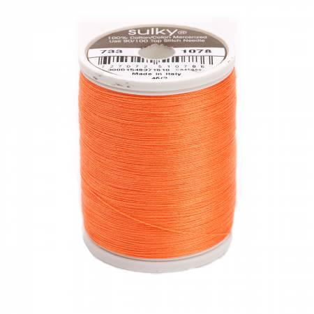 Sulky Cotton Solids 30wt - #1078 Tangerine