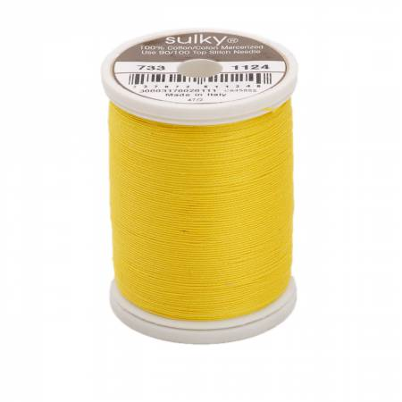 Sulky Cotton Solids 30wt - #1124 Sun Yellow