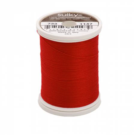 Sulky Cotton Solids 30wt - #1147 Christmas Red