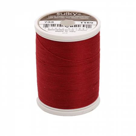 Sulky Cotton Solids 30wt - #1169 Bayberry Red