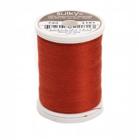 Sulky Cotton Solids 30wt - #1181 Rust