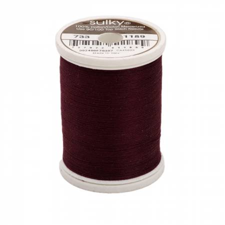 Sulky Cotton Solids 30wt - #1189 Dark Chestnut