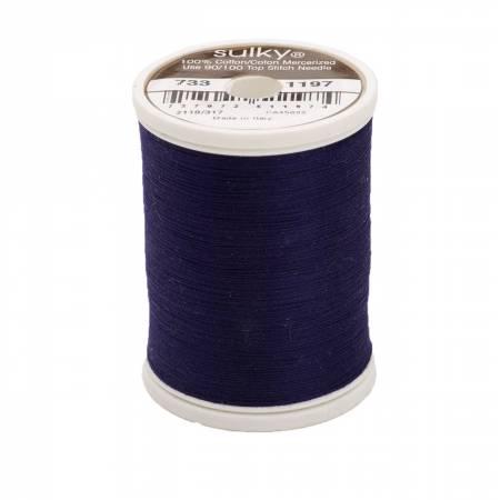 Sulky Cotton Solids 30wt - #1197 Medium Navy