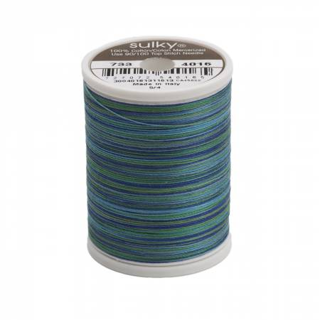 Sulky-Blendables Cotton Thread 2-ply 30wt 400d 500yds Peacock Plume-733-4016