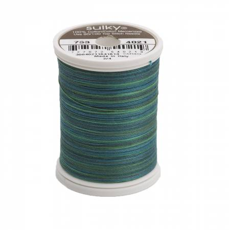 Sulky-Blendables Cotton Thread 2-ply 30wt 400d 500yds Truly Teal