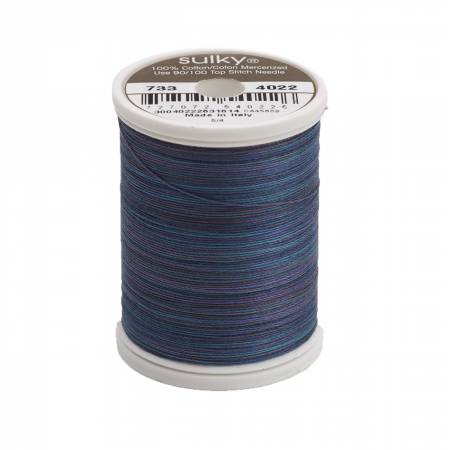 Sulky-Blendables Cotton Thread 2-ply 30wt 400d 500yds Midnight Sky-733-4022