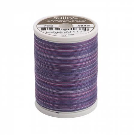 Blendables Cotton Thread 2-ply 30wt 400d 500yds Grape Wine, 4033