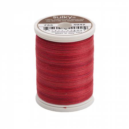 Blendables Cotton Thread 2-ply 30wt 400d 500yds Redwork