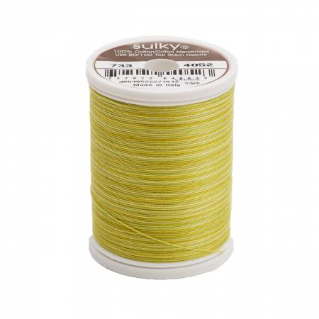 Blendables Cotton Thread 2-ply 30wt 400d 500yds Lime Batik