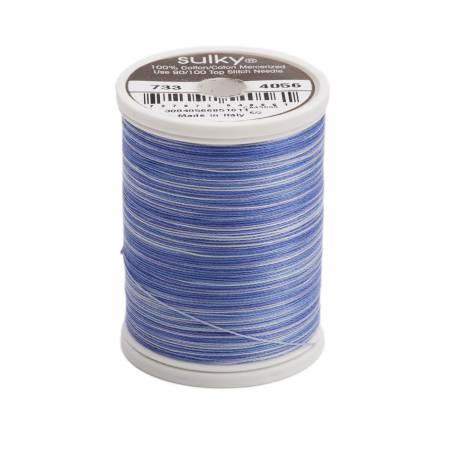 Blendables Cotton Thread 2-ply 30wt 400d 500yds Periwinkles