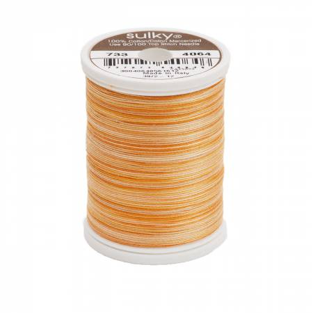 Sulky Blendables Cotton Thread 2-ply 30wt 400d 500yds Buttercup 733-4064