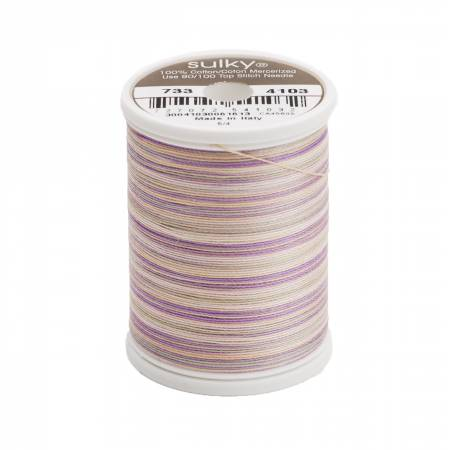 Sulky-Blendables Cotton Thread 2-ply 30wt 400d 500yds Pansies