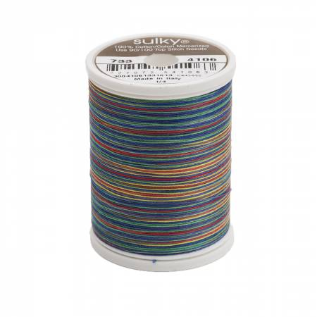 Sulky-Blendables Cotton Thread 2-ply 30wt 400d 500yds Primaries/733-4106