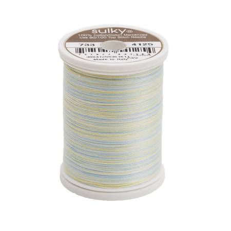 Sulky Blendables Cotton Thread 2-ply 30wt 400d 500yds Butter & Sky 733-4125