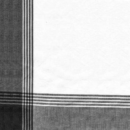 Tea Towel McLeod No Stripe Black with White