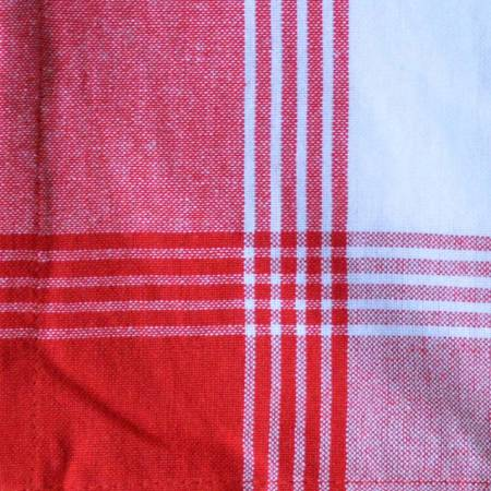 Bright Red and White Tea Towel