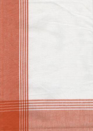 Tea Towel, McLeod No Stripe Orange and White