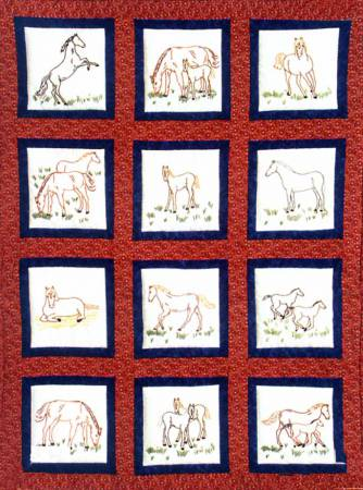 737-342 Horses Quilt Square Themes
