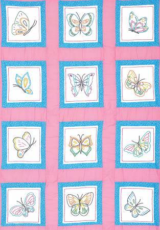 Theme Quilt Blocks 9in Butterflies 12 blocks