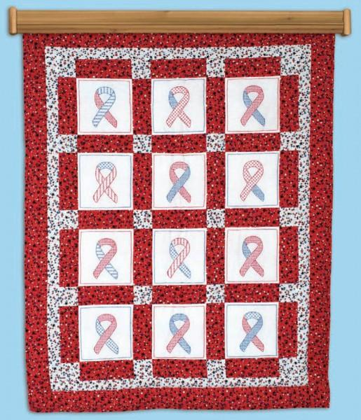 737-60 Ribbons for U.S.A.Theme Quilt Square