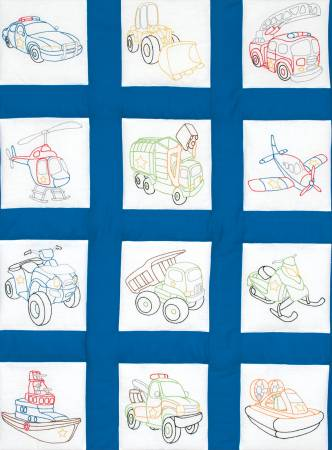 9in Quilt Square Theme Rescue Vehicle