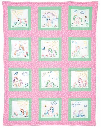Baby Unicorns 9 Theme Quilt Blocks