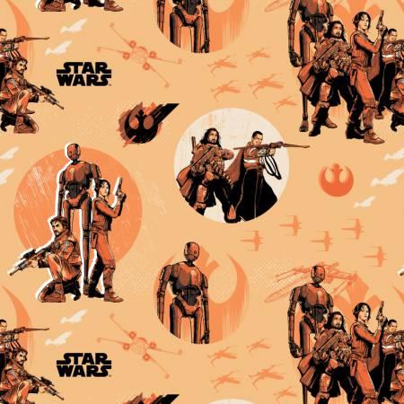 Camelot Star Wars Rogue One Rebels in Light Orange