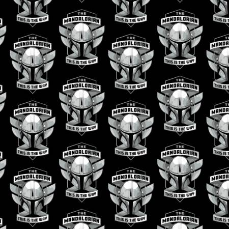 Star Wars - The Mandalorian - Mando Helmet Badge - Black