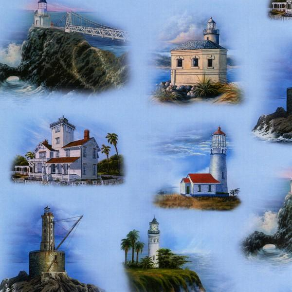 West Coast Lighthouses - Blue