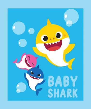 Baby Shark Family 36in Panel