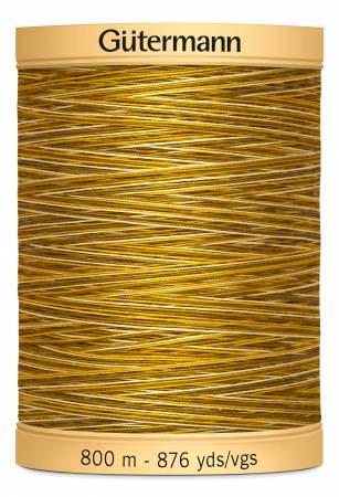 Natural Cotton Thread 800m/875yds Variegated Butternut