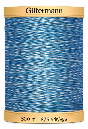 Natural Cotton Thread 800m/876yds Variegated Blue Awakening