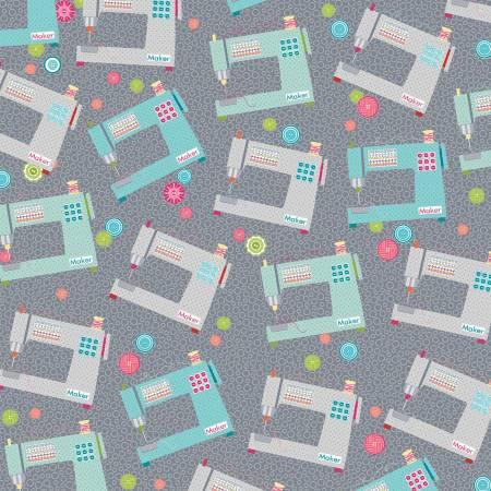 Grey/Multi Favorite Makers Sewing Machine