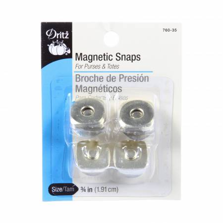 Dritz Magnetic Snaps 3/4 Inch Square Gold (2)
