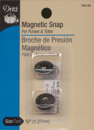 Magnetic Snap Nickel Finish 1/2in