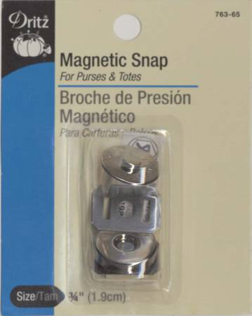 Magnetic Snap Nickel Finish 3/4in