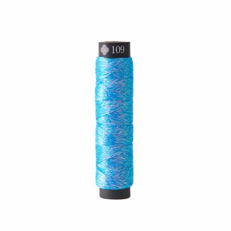 Cosmo Nishikiito Metallic Embroidery Thread Blue Sky