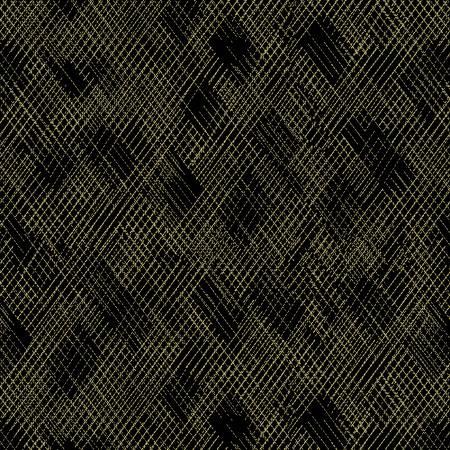 Black/Gold Metallic Cross Hatch