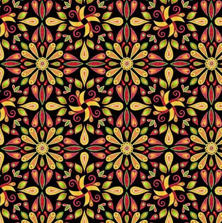 Black Teardrops Allover | Safari, So Goodie Fabric by Wilmington Prints