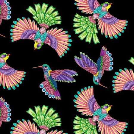 Rainbow Flight -- 77641-936 Black Birds Allover