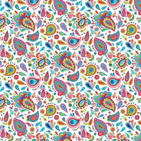 Live Out Loud White Paisley Toss