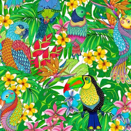 White Birds Allover WP033121
