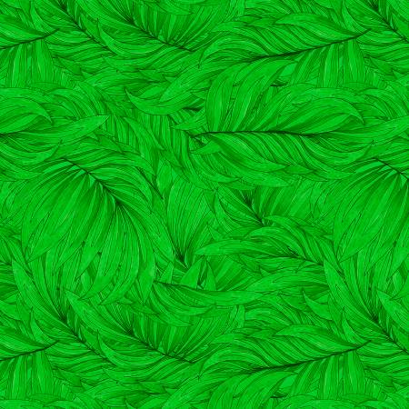 Wilmington Tropical Flair Leaf Texture - Green