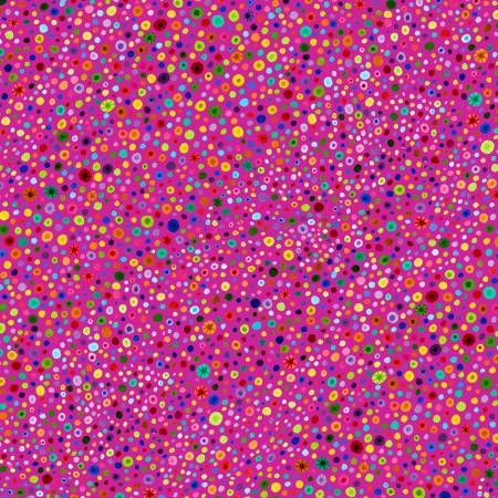 Fuchsia Glass Beads 77664-363