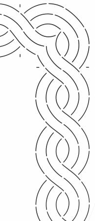 3 Double Cable Stencil