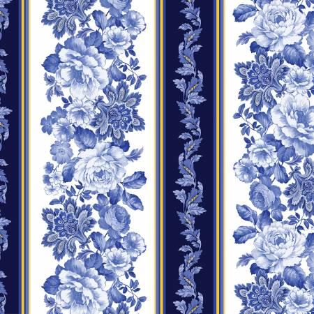 Blue Belle Fleur Stripe 7902B-50