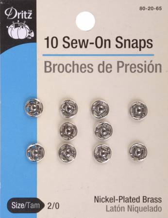 Snap Sew-On Size 2/0 Nickel